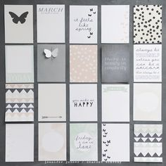 journal cards no. 3 (project life) by dearest someday - cute butterfly Life Journal, Journal Cards, Bullet Journal, Pocket Scrapbooking, Scrapbooking Layouts, Layout Inspiration, Journal Inspiration, Project Life Cards, Printable Designs