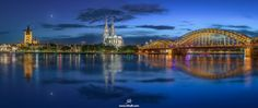 Cologne In Blue by RilindHoxha Night Shot, Sky Garden, Blue Hour, Night City, Sydney Harbour Bridge, Love And Light, City Life, Cologne, Lightroom