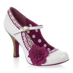 Take a look at this Ruby Shoo White & Fuchsia Poppy Pump today! Pretty Shoes, Beautiful Shoes, Cute Shoes, Me Too Shoes, Mode Vintage, Vintage Shoes, Crazy Shoes, New Shoes, Rockabilly Style