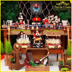 Decoração Mickey Pirata - Faz de Conta Artesanato e Decoração