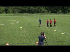 Soccer 1v1 Attack Diagonal Goals - Top Soccer Drills