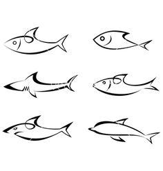 http://cdn.vectorstock.com/i/composite/34,60/fish-outlines-vector-563460.jpg