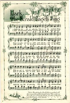 Christmas Sheet Music, Noel Christmas, Christmas Projects, All Things Christmas, Winter Christmas, Xmas Music, Xmas Songs, Christmas Letters, Papel Vintage