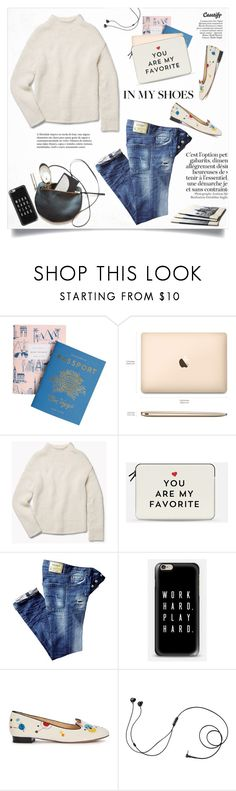 """""""In my shoes..."""" by yexyka ❤ liked on Polyvore featuring Rifle Paper Co, Theory, Casetify, Paolo, Charlotte Olympia and Marshall"""