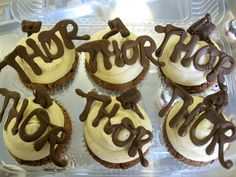 Thor cupcakes      Visit www.fireblossomcandle.com for more party ideas!