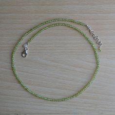 Classic Design Necklace Peridot Bead Gemstone by DevmuktiJewels