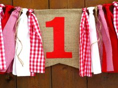 Teddy Bear Picnic Birthday Banner High Chair by SeacliffeCottage