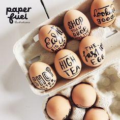 Lettering eggs for an advertisement... I can imagine worst jobs! #lettering #egg #eggs #easter #paperfuel