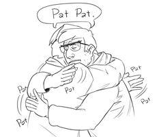 Awkward Sibling Hug pt.3