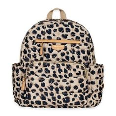 b26ac81b9d33 TWELVElittle Companion Leopard Backpack Diaper Bag - buybuyBaby.com Vera  Bradley Backpack, Baby Essentials