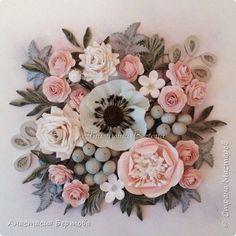 Anastasia Bertova Quilling Work, Quilling Flowers, Paper Quilling, Felt Flowers, Diy Flowers, Paper Flowers, Quilling Ideas, Diy Paper, Paper Art