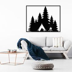 Forest - אלגנטי אומנות במתכת #intrieror #wallartdecor #wallart #אלגנטיאומנותבמתכת #אלגנטיאומנות #אומנותבמתכת Blanket, Bed, Home, Stream Bed, Ad Home, Blankets, Homes, Beds, Cover