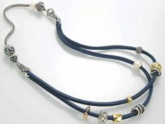 A leather necklace with a silver bracelet!!! Trollbeads offer us unique combinations and this is a beauty!