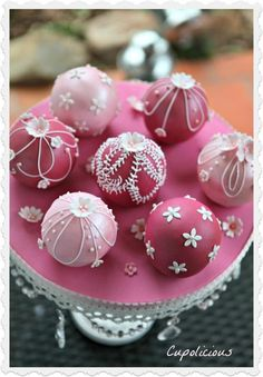 Spherical Christmas Ornaments Cake  ~ all edible wedding cakes ~ Victoria sponge spherical cake filled with Strawberry cream