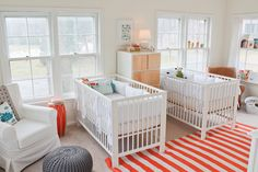 Twin Baby Boy Room Nursery Ideas For Twin Babies. Pin By Margaret Carlson On Baby Fever Twin Baby Rooms . Seeing Green In The Nursery Project Nursery. Ikea Crib, Ikea Nursery, Nursery Twins, White Nursery, Baby Nursery Decor, Nursery Neutral, Nursery Design, Nursery Themes, Nursery Room