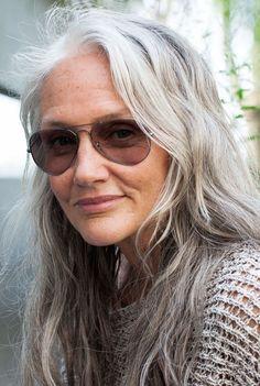 Granny Gray Silver Human Hair Extensions (172)  http://www.sishair.com/     Sis Hair: Virgin Hair, Remy Hair, Ombre Hair & Lace Closure