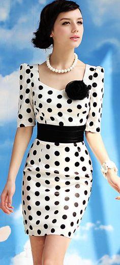polka dots mini dress
