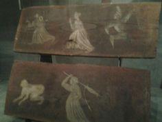 Tavolette da soffitto pittore piemontese prima metà XV sec. Palazzo Madama Torino
