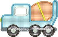 Cement Truck Applique Design