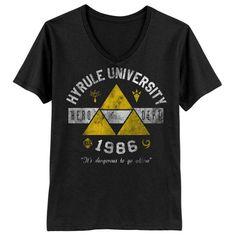 Hyrule University - Men's V-Neck T-Shirt