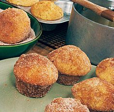 Doughnut Muffins: They may look like muffins, but a dunk in melted butter and a roll in cinnamon-sugar makes these luscious morsels taste more like donuts, without the hassle of deep-frying. Via FineCooking