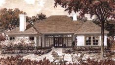 2 Story Home Plans, Cool Custom House Design, Affordable Two Story Flo – Preston Wood & Associates Lake House Plans, Luxury House Plans, One Story Homes, 2 Story Houses, Building Design, Building A House, Building Homes, Roof Plan, First Story
