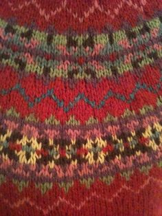 fairisle pattern ~ This was an op shop find for 5 pound! However, love the colours so great inspiration!