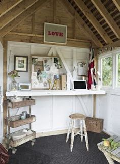 from little acorns.........: oak potting shed #shedplans She Shed Interior Ideas, Shed Room Ideas, House Ideas, Shed Conversion Ideas, Diy Shed Kits, Shed Office, Building A Storage Shed, Simple Shed, Workshop