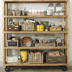 What a great shelving unit! This could easily be made from salvaged wood.
