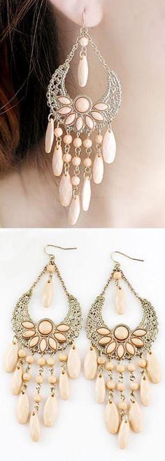 Blush Boho Tassel Earrings ♥ #DressUpPartyDown
