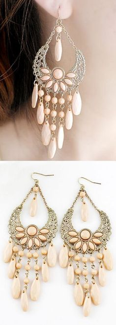 Blush Boho Tassel Earrings ♥ #DressUpPartyDown