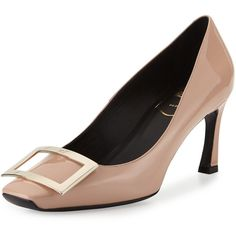 85bfbd0ab0 Trompette Patent Leather Pumps, Nude by Roger Vivier at Neiman Marcus