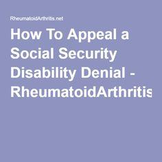 How To Appeal A Social Security Disability Denial   RheumatoidArthritis.net