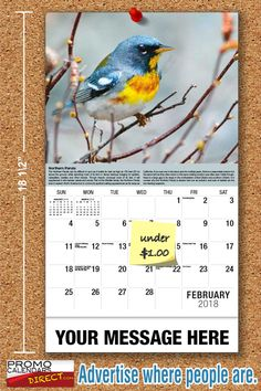 2021 Garden Song Birds Wall Calendars low as Advertise your business, organization or event logo and ad message the entire year! Promotional Calendars, Wall Calendars, Garden Birds, Phone Messages, Free Advertising, Business Organization, Holiday Cards, Seasons, Songs