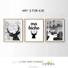 Buy 2 get 1 FREE  printable art minimalist art by RueSaintCharles