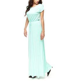 This Mint Tie-Waist Maxi Dress is perfect! #zulilyfinds $28