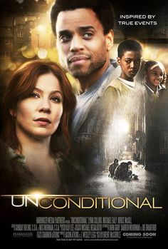 Unconditional - Christian Movie/Film on DVD.   Joe and Samantha were the most unlikely childhood friends, growing up in a farm town where black and white didn't mix. Over time they lost touch. Sam never left the pastures of her rural county, yet found great success as a children's author.  http://www.christianfilmdatabase.com/review/unconditional/