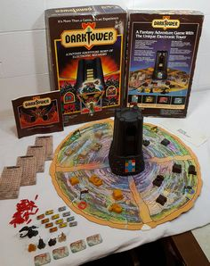 Found a holy grail board game today! 1981 Dark Tower by Milton Bradley. My Childhood Memories, Childhood Toys, Retro Toys, Vintage Toys, Dark Tower Board Game, Tower Games, Toys In The Attic, Vintage Board Games, Milton Bradley
