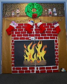 My christmas door decoration for 2013 i won 1st place again for our
