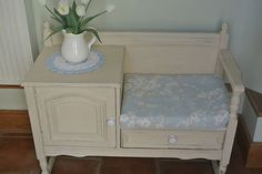 ♥♥ Shabby Chic Vintage Solid Oak Telephone Table painted in Annie Sloan Paint ♥♥