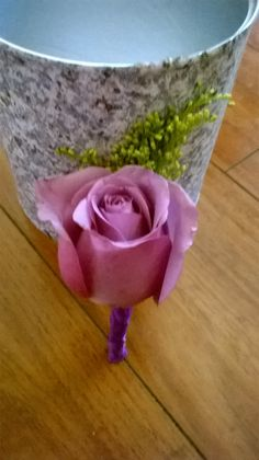 Purple rose Boutonniere   #purpleroseboutonniere #purpleboutonniere #coolwaterboutoniere MyBouquet Las Vegas