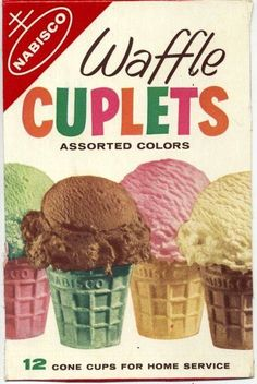 I remember when ice cream in these color cones were a really big treat for kids. Back in those days, kids didn't have as many snacks as they do now.or snack as often. Yes a favorite at my Grandparents; My Childhood Memories, Great Memories, Vacation Memories, 90s Childhood, School Memories, Vintage Advertisements, Vintage Ads, Vintage Food, Vintage Stuff