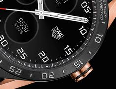 "TAG Heuer Connected Smartwatch In Rose Gold - by Patrick Kansa - TAG Heuer gives the Connected a makeover. More details at: aBlogtoWatch.com - ""As was mentioned in the original introduction article for the TAG Heuer Connected, it was all but inevitable for the Swiss brands to get into the gadgety world of smartwatches. Admittedly, the TAG Heuer Connected did do a good job of looking like the mechanical watches that came before it, and the titanium gave it some feel of luxury..."""