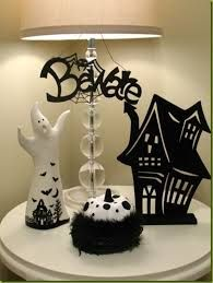 Image result for black and white halloween decor