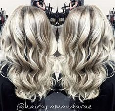"""""""Courtney was actually a new client who found me through social media,"""" says Amanda Rae(@hairby.amandarae) of Amara Salon and Spa (@amarasalonandspa), Regina, Saskatchewan. """"She came in with about 2"""" of regrowth from a full head of foils and said that she wanted to be a lighter blonde, but more natural. She brought in pictures of a balayage blonde. Her goal was to still be super blonde but something that was easier to maintain since she is a student."""" Here Rae shares the how to for this corr... Balayage Hair Brunette Long, Balayage Hair Bob, Blonde Foils, Blonde Highlights On Dark Hair, Blonde Hair Makeup, Bright Blonde, Ombre Hair, Pixie, Hair Shadow"""