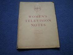 WOMEN'S TELEVISION NOTES BBC 1956 DRESS MAKING | eBay