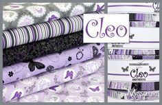 I love purple! Cleo by Another Point of View for Windham Fabrics