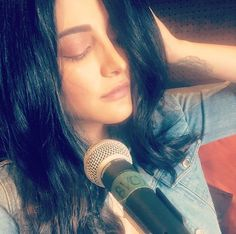 Diva vibes for no reason at all studiosesh workmode makingmusic sang Celebrity Fashion Looks, Celebrity Style, Shurti Hassan, Stylish Dpz, Heart Button, Bollywood Fashion, View Image, Diva, Singing