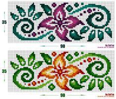 """Схема - """"Цветочный орнамент (Freehand) 'АКА-Сельва"""