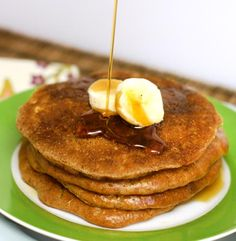 Almond Butter Pancakes. These grain-free pancakes have an authentic taste and texture, and can be baked instead of pan-fried!